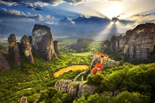 Meteora rocks of Greece