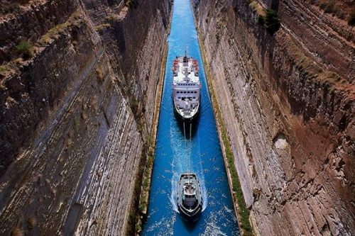 The famous Corinth canal