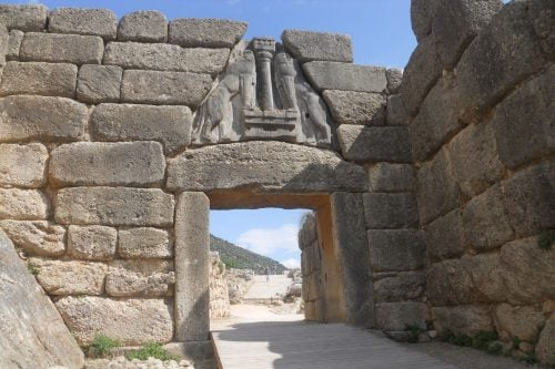 Mycenae Lyons Gate, Greece