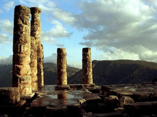 Delphi, the temple of Apollo