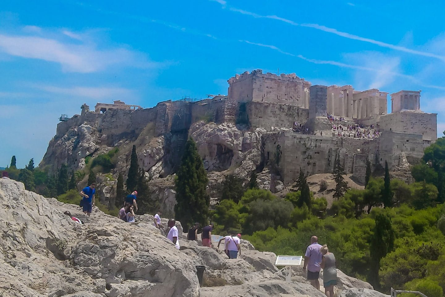 Acropolis from Mars Hill, Athens Greece