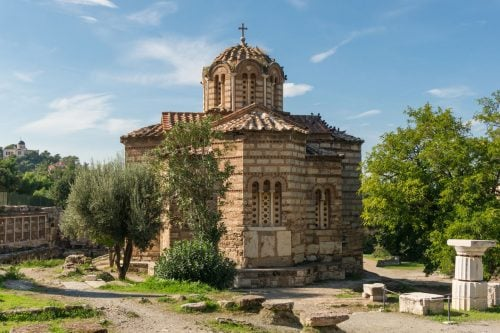 Church of holy apostles in ancient agora, Athens
