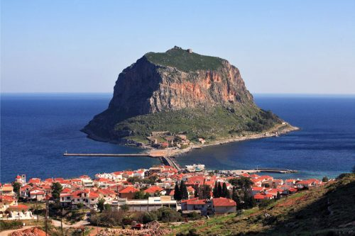 Monemvasia in Peloponnese Greece
