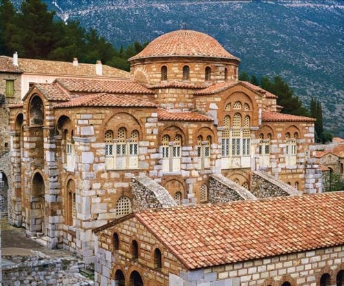 The Bizyntine Osseus Lucas monastery